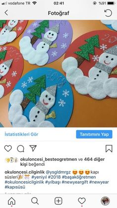 Basteln mit Kindern im Winter - Weihnachten Snowman image Defining Your Rooms With Area Rugs Area Ru Preschool Christmas, Christmas Crafts For Kids, Christmas Activities, Diy Christmas Ornaments, Christmas Projects, Kids Christmas, Holiday Crafts, Christmas Snowman, Winter Crafts For Kids