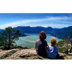 Brother and sister just taking in the view!  Photo from @ jfplouffe Instagram