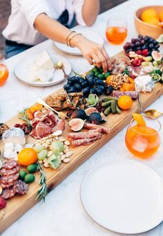 Cheese & Meat board.