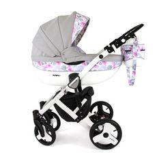 Kunert Lavado Babakocsi (szürke pink virágos) Baby Things 742e58cc19