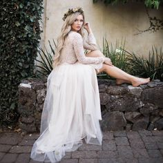 Willow Maxi tulle skirt and Camilla lace top by Bliss Tulle // Model: Stephanie Danielle // Kelly Anne Photography