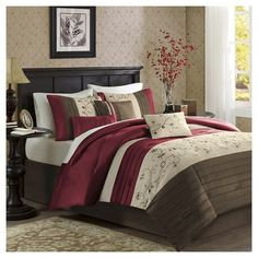 full size of comforter set:red and grey comforter set twin bedding sets grey bedding . full size of bedding:linen comforter bedding sets red sheet set madison park essentials emily . black and white comforter sets Elegant Comforter Sets, Queen Comforter Sets, Queen Duvet, Bed Duvet Covers, Duvet Cover Sets, Comforter Cover, Pillow Shams, Duvet Bedding, Bedding Sets