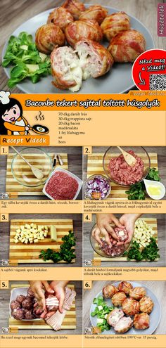 Mit Käse gefüllte Fleischbällchen im Speckmantel Meatballs wrapped in cheese wrapped in bacon - a delicious meat dish that goes fast and is filling. The cheese-filled meatballs wrapped in bacon are ve Clean Eating Diet, Clean Eating Recipes, Cooking Recipes, Cheese Wrap, Healthy Snacks, Healthy Recipes, Hungarian Recipes, Bacon Recipes, No Cook Meals