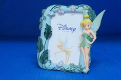 Tinker Bell Photo Resin Picture Frame Figurine Disney Peter Pan Retired #Enesco