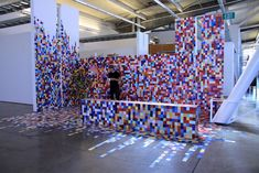 Artist Uses Paint Swatches to Create a Colorfully Pixelated Space - My Modern Met