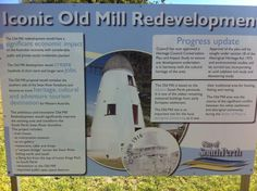 Old Mill South Perth. One of Perth's best known Landmarks, built located on the south Perth foreshore of the Swan River Perth Western Australia, Private Sector, Historical Society, Conservation, Swan, Tourism, Icons, River, How To Plan