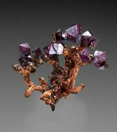 Cuprite on native copper