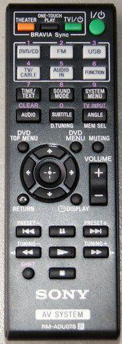 SONY 1-487-641-11 REMOTE CONTROL INFRARED RM-ADU078 OEM ORIGINAL PART 148764111 by Sony. $20.79. REMOTE CONTROL INFRARED RM-ADU078