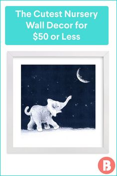 On the hunt for nursery wall decor that won't break the bank? Shop our favorite affordable works of art, from baby wall decals to nursery animal prints. Baby Wall Decals, Nursery Wall Decor, Nursery Furniture, Nursery Themes, Nursery Ideas, Unique Wall Decor, Animal Nursery, Color Schemes, Animal Prints