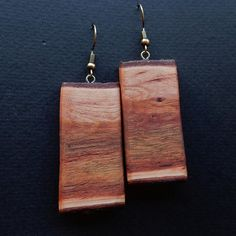 Wooden earrings. Earrings from the root o shinos tree
