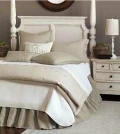 Burlap Bed Skirts & Dust Ruffles. Custom Drop Length.  3 Colors.  http://www.jbrulee.com/pd-burlap-bed-skirts-dust-ruffles.cfm