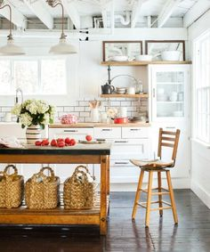 If you don't have enough counter space, add an island—or if you're short on space, a modular cart.