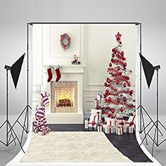Amazon.com : 5x6.5t Kate No Wrinkles Christmas Photography Backdrops Christmas Tree Gift Box Stove White Background for Newborn Photo Studio : Camera & Photo