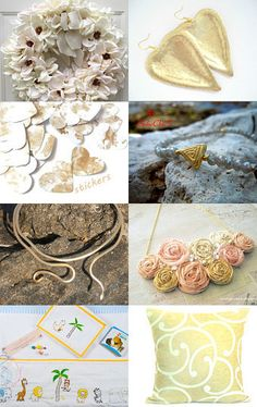 White and gold!!! by Sissy Atsidakou on Etsy--Pinned with TreasuryPin.com