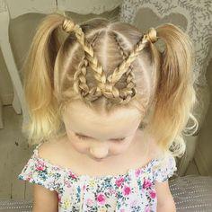 How cute are these Dutch Braid on little Baylee ☺️ ? Inspired by @mybraidedprincess5 and @evgenikalifestyle #SweetHearts #braidsforlittlegirls #braids #modernsalon @behindthechair_com #americansalon #kids #kidshairstyles
