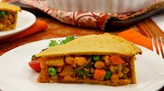 Moroccan Vegetable Pie with Chickpea Crust - Recipes - Best Recipes Ever - Chickpeas make the crust of this hearty pie colourful, fragrant and dense. Though the ingredients are many, a lot are pantry staples and the dish comes together easily for an impressive entrée....