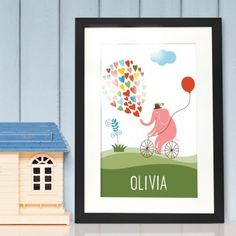 Personalised New Baby Gifts :: Stunning personalised and unique Newborn Baby Gift ideas with a difference - Buy Online Now - Fast UK Delivery! Unique Baby Gifts, New Baby Gifts, Gifts For Boys, Newborn Baby Gifts, Pink Elephant, Boy Or Girl, Personalized Gifts, New Baby Products, Frame