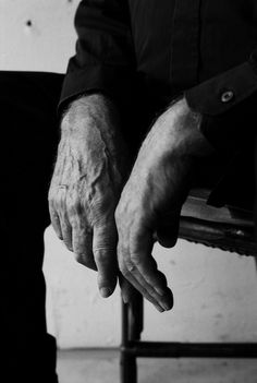 Pierre Soulages, hands of a painter in the studio by Derek Hudson