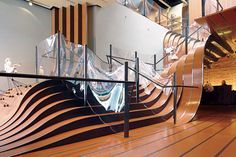 curving, thermoplastic balustrades.