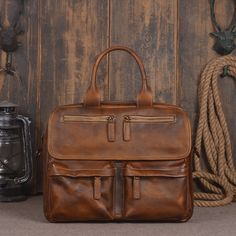 110.67$  Buy now - http://alir9f.worldwells.pw/go.php?t=32775921593 - 2016 New Vintage Large Capacity Genuine Soft Leather Men's Bags Cowhide Handbag Designer Laptop Portfolio Men Messenger Tote  110.67$