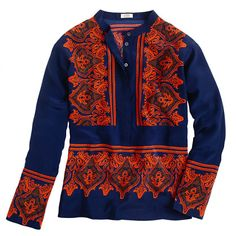 Silk dervish paisley tunic- J.Crew. It's on sale but I can't afford it even w my discount :(