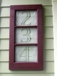 Window Pane House Numbers.  Swoon.