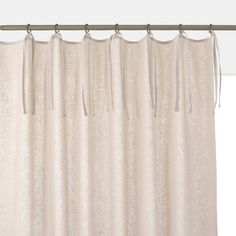 Odorie Single Linen/Viscose Eyelet Curtain LA REDOUTE INTERIEURS Odorie linen/viscose curtain: for a simple yet elegant home.Please Note: This curtain is sold individually, not in pairs, which is common in Europe. Tie Top Curtains, Plain Curtains, Linen Curtains, Bohemian Living Rooms, Eclectic Living Room, Living Room Colors, Dark Grey Curtains, Am Pm La Redoute, Hall Flooring