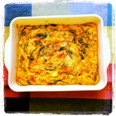 """Finally, a good oven-baked """"customizable"""" frittata recipe! Since I feel like 10 eggs is insane, I used 7 eggs and about half a cup of ricotta. I also baked at 425 for 20 minutes. Enjoy!"""