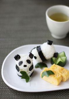baby panda rice balls / chick*pea
