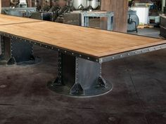 I Beam Maple Conference Table D
