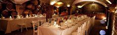 Enjoy you wedding dinner in a south africa wine cellar