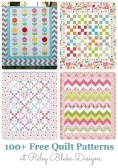 We are huge Riley Blake fans here at U Create…but, I can't believe I just figured something out!! Did you know they offer over 100 FREE quilt patterns on their website?! Me either. I'm freakin out a little bit and can't believe they give us patterns like these… …oh and that's not it!! Oh, …