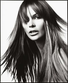 by David Bailey David Bailey Photography, Brian Duffy, English Fashion, Elle Macpherson, Close Up Portraits, Fashion Photography Inspiration, Portrait Photographers, Long Hair Styles, Celebrity Women