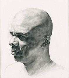 Zack Zdrale, charcoal drawing. Head study 11