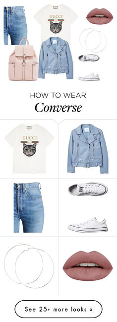"""Untitled #613"" by alexadias27 on Polyvore featuring Gucci, MANGO, RE/DONE and Converse"