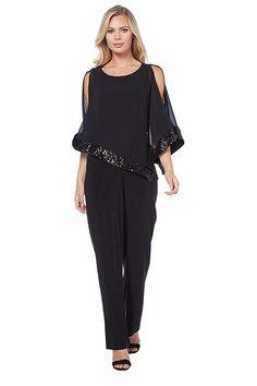 krisp damen eleganter jumpsuit einteiler festlicher. Black Bedroom Furniture Sets. Home Design Ideas