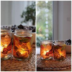 lebe-deinen-Traum: Wenn das Wetter immer trüber wird ..... oder wir basteln uns blättrige Herbstlichter ....