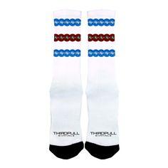 Athletic Plate Socks - Blue/Red