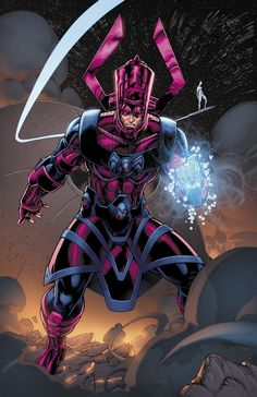 Galactus (Galan) the Devourer is a fictional character, a supervillan in the Marvel Comic universe. Created by Stan Lee and Jack Kirby, he debuted in The Fantastic Four #48 in 1966.