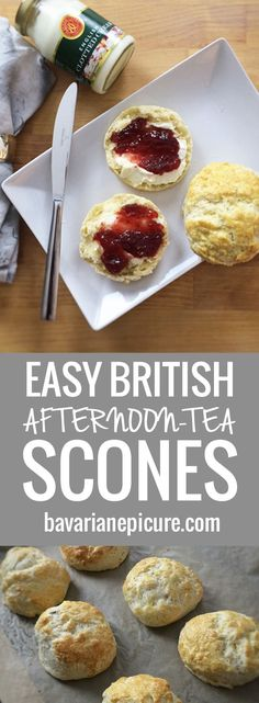 Easy British Afternoon-Tea Scones - perfect for entertaining guests and super fa.- Easy British Afternoon-Tea Scones – perfect for entertaining guests and super fa… Easy British Afternoon-Tea Scones – perfect for… - English Scones, English Food, British Scones, English Recipes, British Food Recipes, British Tea Time, British Biscuits, British Party, Clotted Cream