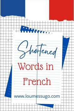Shortened Words in French Australian English, Go To The Cinema, Bon App, French People, French Expressions, Step Brothers, Lost In Translation, French Words, How To Speak French