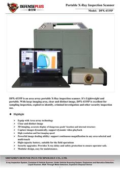 Portable X-Ray check-in Scanner DPX-4335P FM Defense Plus. Contact for it: sales04@szdefense.com Walk Through Metal Detector, Scanning Machine, Security Equipment, Surveillance System, Investigations, Technology, Check, Tech, Study