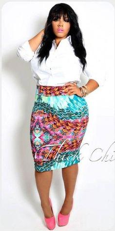 patterned pencil skirt inspo