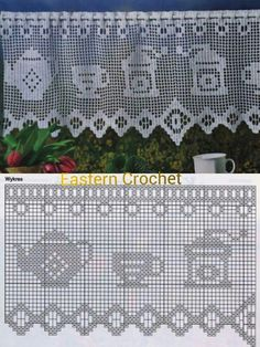 Tejidos Crochet Poncho Patterns, Crochet Borders, Crochet Diagram, Crochet Lace, Crochet Stitches, Crochet Hooks, Knitting Squares, Crochet Carpet, Fillet Crochet