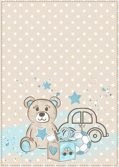 Ivana, Baby Animal Drawings, Baby Birthday Card, Teddy Bear Baby Shower, Iphone Wallpaper Fall, Baby Posters, Baby Shower Invitaciones, Baby Frame, Baby Boy Scrapbook