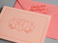 Ombre Letterpress Wedding Invitations by Thomas Printers via Oh So Beautiful Paper (5)