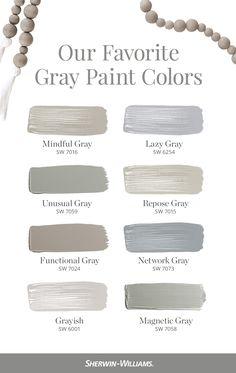 Grey Paint Colors, Neutral Gray Paint, Kitchen Paint Colors, Paint Colors For Home, Mindful Gray, Room Colors, House Colors, Diy Dream Home, Repose Gray