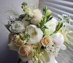 champagne and white peonies bouquets - Google Search