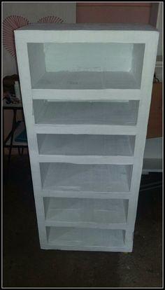 Mueble organizador hecho de cartón