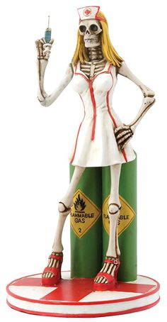 Sexy Skull Nurse Collectible Figurine Skeleton Figurines http://amzn.to/2iU4mIP